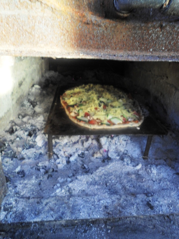 Baking Pizza in the Boiler