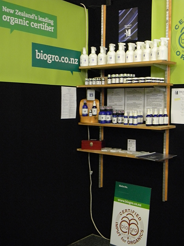 True Blue Organics Display at Fieldays 2012
