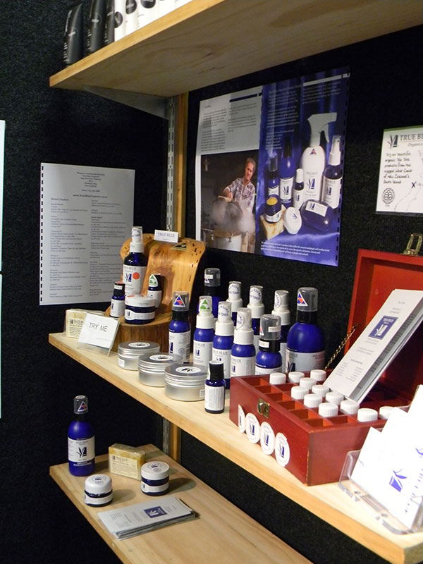 True Blue Organics Product Display