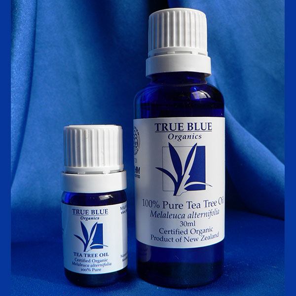 Tea Tree Oil in 12ml and 30ml Blue Glass Bottles
