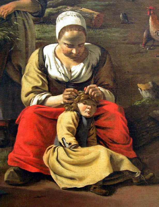 Checking Lice by Jan Siberechts 1662