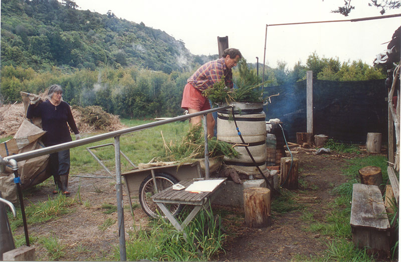 Loading the Old Still Pot