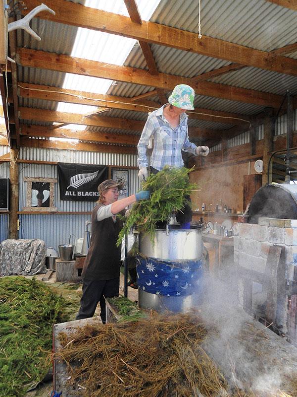 Loading the still pot